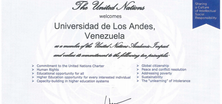 ULA and UCAB Are Now Members of the United Nations Academic Impact (UNAI)