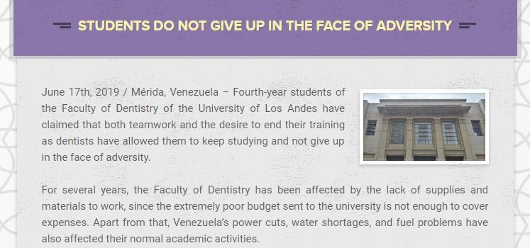 Bulletin: Students do not give up in the face of adversity