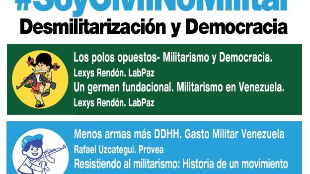 Taller: Soy Civil No Militar: Desmilitarización y Democracia