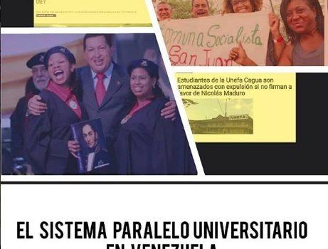 [Informe] El sistema paralelo universitario en Venezuela. 2003-2019