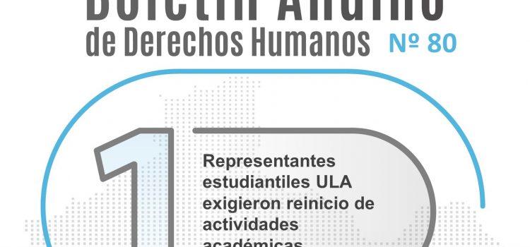 Boletín andino de derechos humanos Nº 80