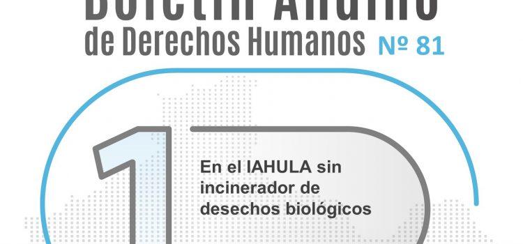 Boletín andino de derechos humanos Nº 81