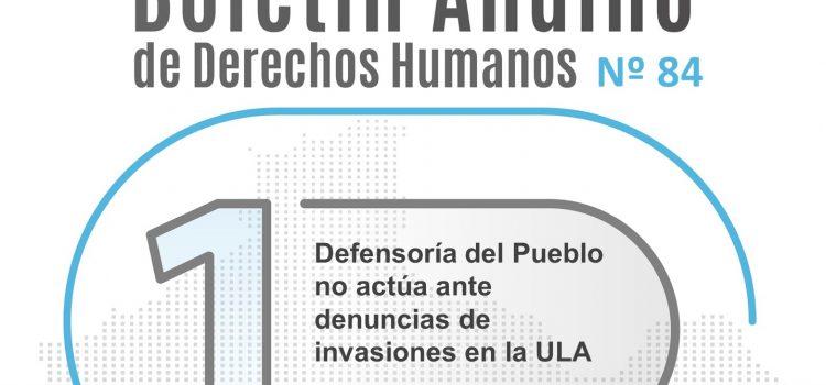 Boletín andino de derechos humanos Nº 84