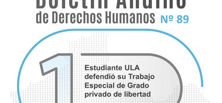Boletín andino de derechos humanos Nº 89