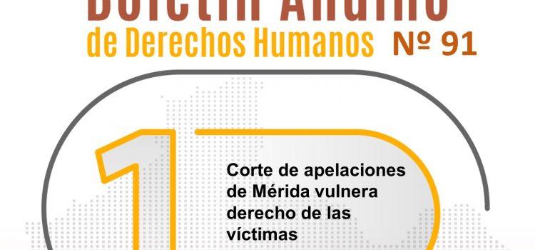 Boletín andino de derechos humanos Nº 91