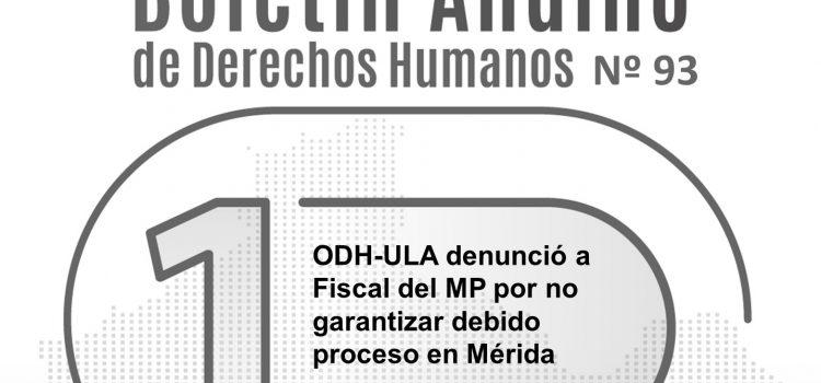 Boletín andino de derechos humanos Nº 93