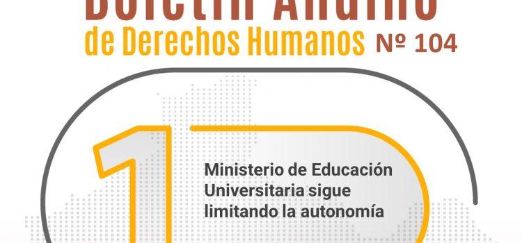 Boletín andino de derechos humanos Nº 104