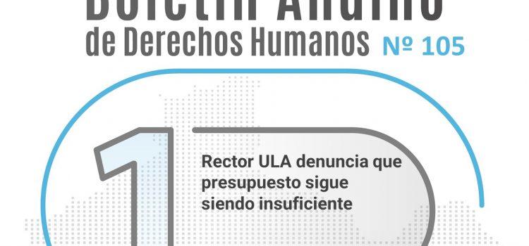 Boletín andino de derechos humanos Nº 105